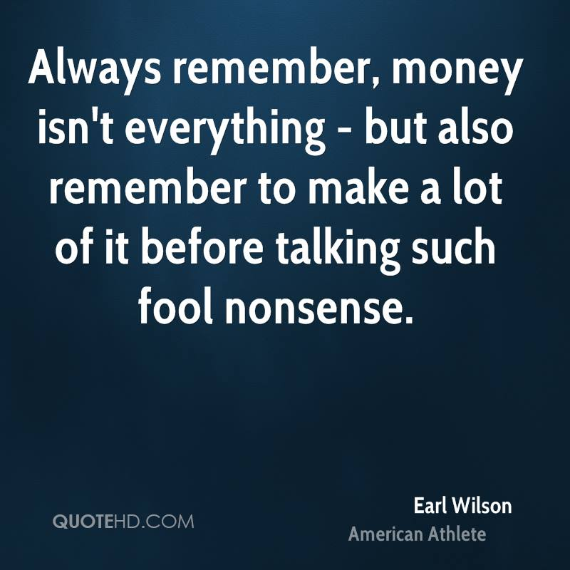 essay about money isnt everything Money isn't everything philip oreopoulos kjell g salvanes  nber working papers are circulated for discussion and comment purposes they have not been peer.