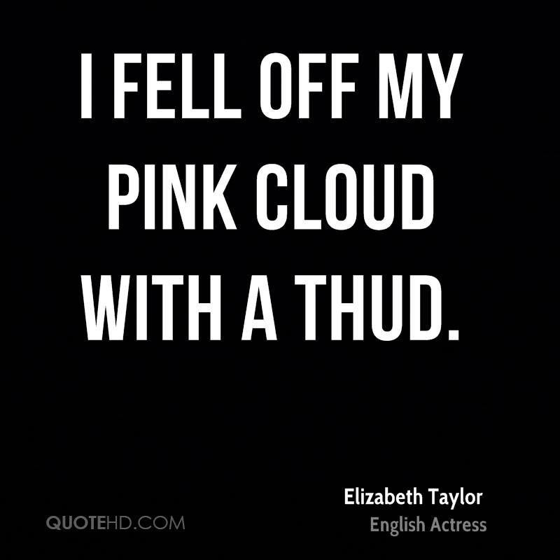 I fell off my pink cloud with a thud.