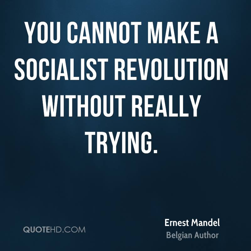 You cannot make a socialist revolution without really trying.