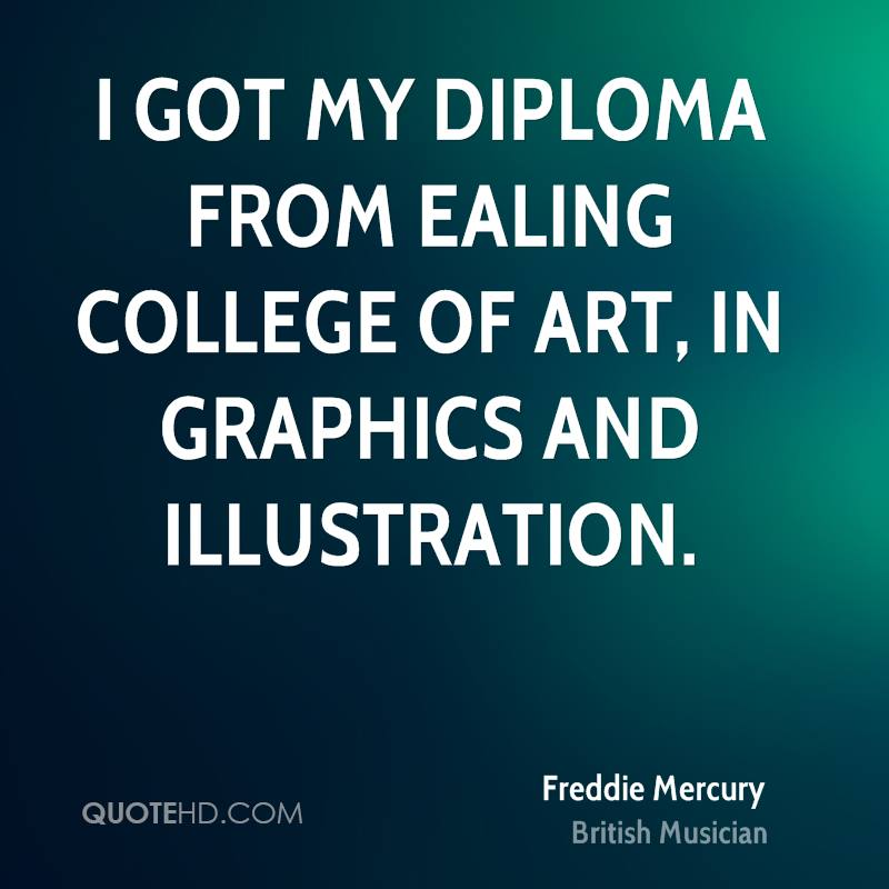 I got my diploma from Ealing College of Art, in graphics and illustration.