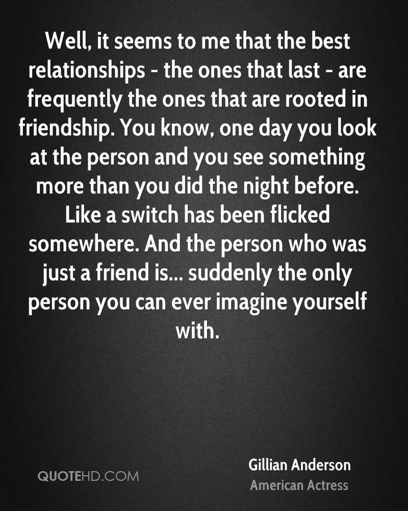 Gillian Anderson quotes relationships