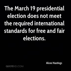 The March 19 presidential election does not meet the required international standards for free and fair elections.