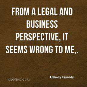 From a legal and business perspective, it seems wrong to me.