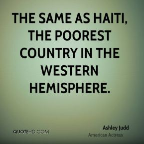 the same as Haiti, the poorest country in the Western Hemisphere.