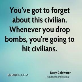 You've got to forget about this civilian. Whenever you drop bombs, you're going to hit civilians.