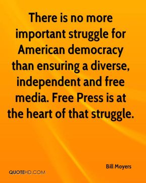 There is no more important struggle for American democracy than ensuring a diverse, independent and free media. Free Press is at the heart of that struggle.