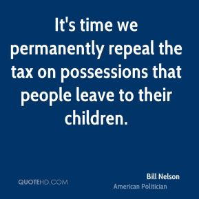 It's time we permanently repeal the tax on possessions that people leave to their children.