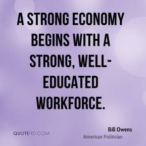 A strong economy begins with a strong, well-educated workforce.