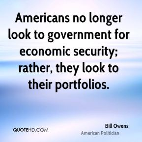 Americans no longer look to government for economic security; rather, they look to their portfolios.