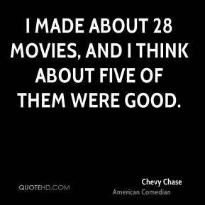 I made about 28 movies, and I think about five of them were good.