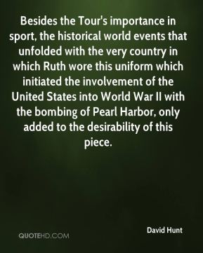 Besides the Tour's importance in sport, the historical world events that unfolded with the very country in which Ruth wore this uniform which initiated the involvement of the United States into World War II with the bombing of Pearl Harbor, only added to the desirability of this piece.