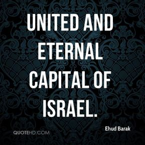 united and eternal capital of Israel.