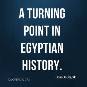 a turning point in Egyptian history.