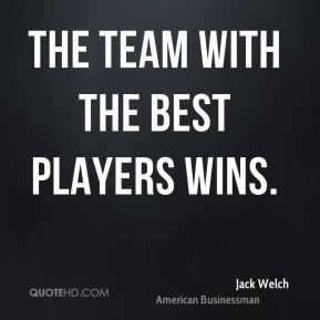 The team with the best players wins.