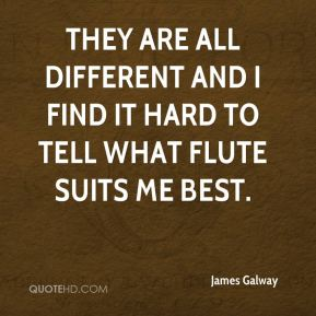 They are all different and I find it hard to tell what flute suits me best.