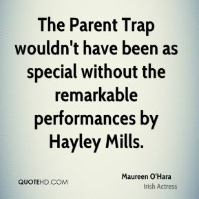 The Parent Trap wouldn't have been as special without the remarkable performances by Hayley Mills.