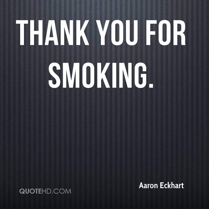 thank you for smoking quotes