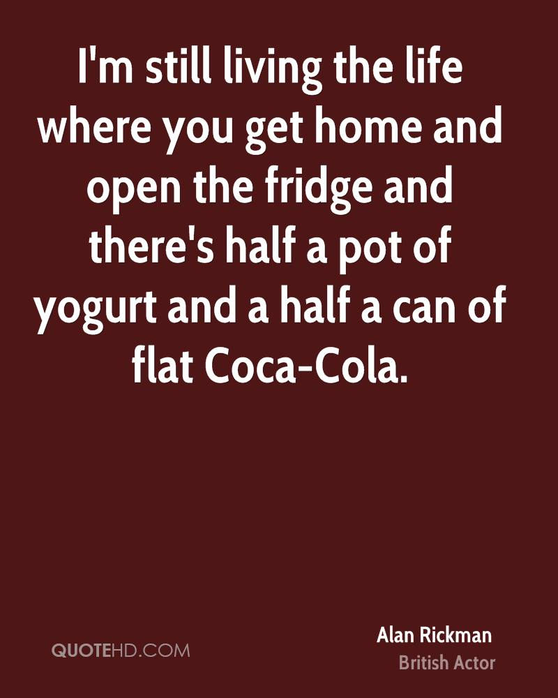 Coca Cola Quotes Alan Rickman Home Quotes  Quotehd