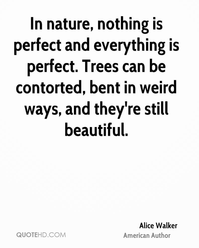 In nature, nothing is perfect and everything is perfect. Trees can be contorted, bent in weird ways, and they're still beautiful.
