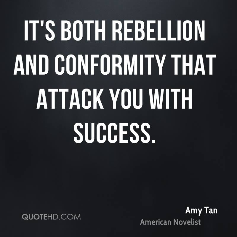 thesis on conformity and rebellion