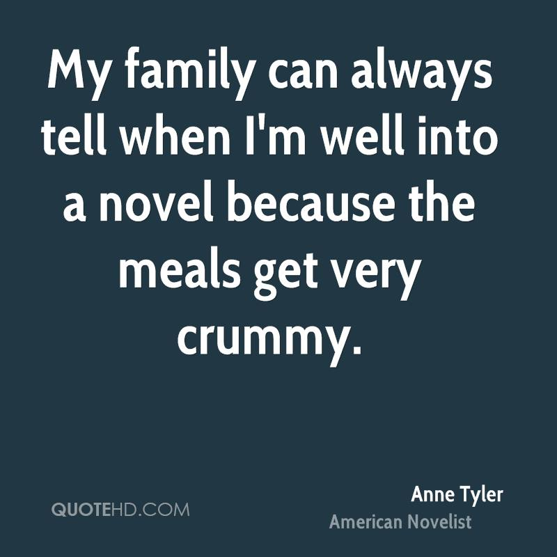 a closed family in anne tylers Summary/annotation - pulitzer prize winner and american master anne tyler brings us an inspired, witty and irresistible contemporary take on one of shakespeare's most beloved comedies.