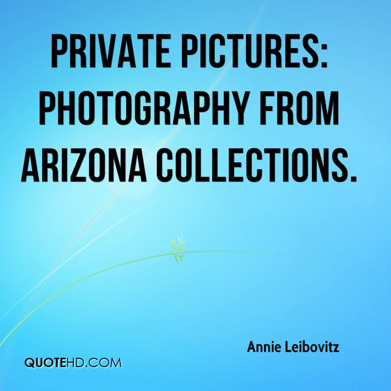 Private Pictures: photography from Arizona collections.