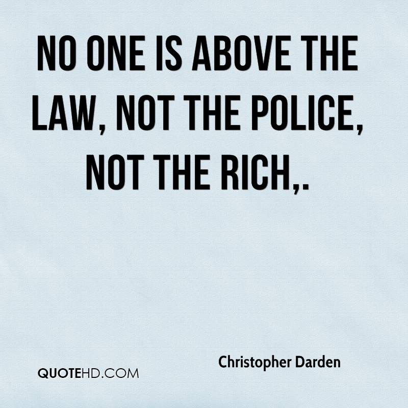Essay about police being above the law