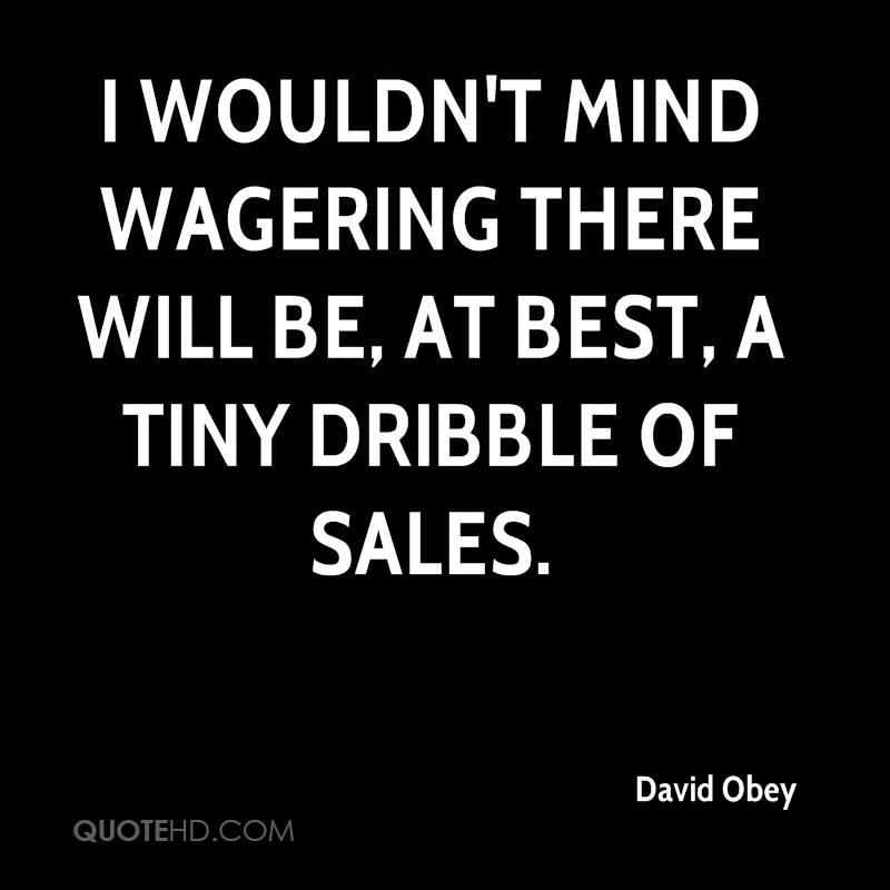 I wouldn't mind wagering there will be, at best, a tiny dribble of sales.