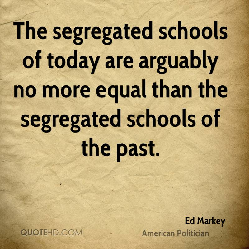 We have little hope of remedying school segregation that flows from neighborhood racial isolation if we dont understand its causes Social and economic