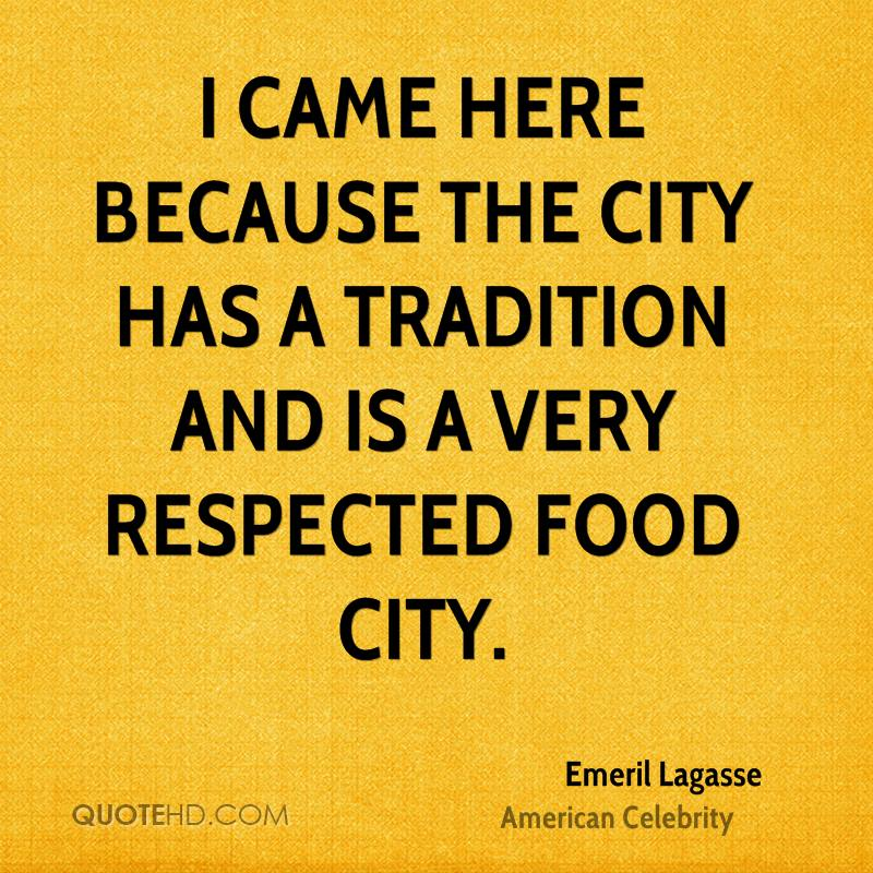 I came here because the city has a tradition and is a very respected food city.