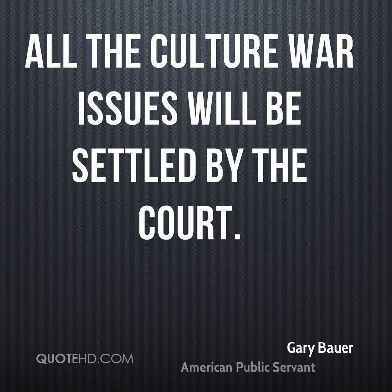 All the culture war issues will be settled by the court.