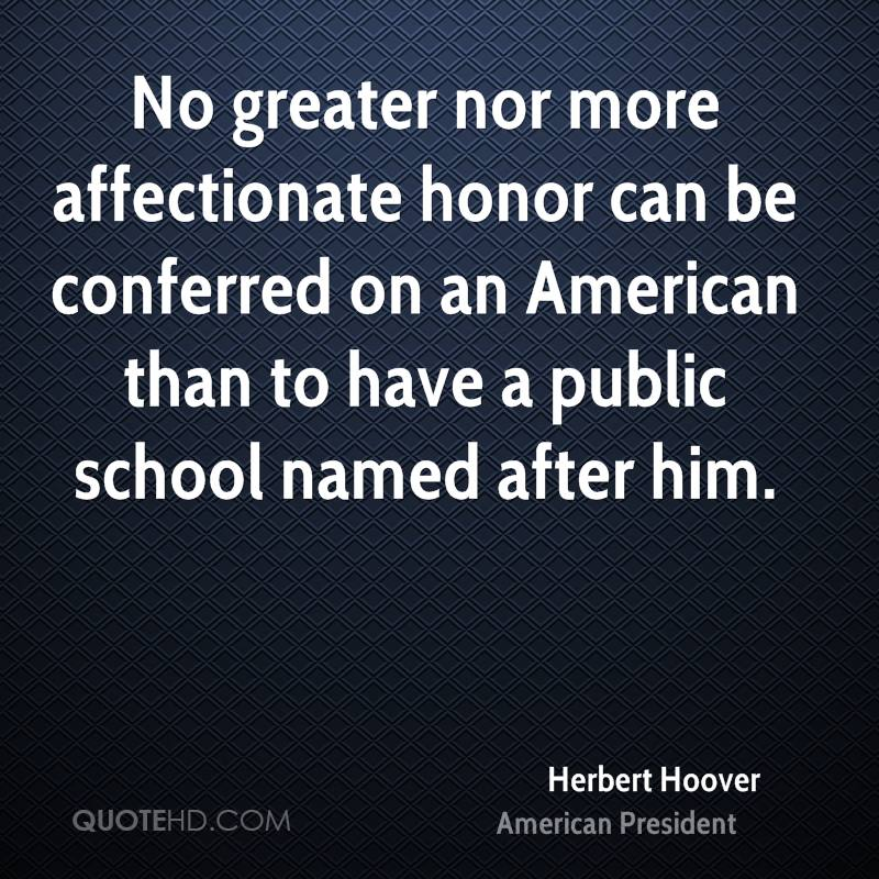 President hoover quotes