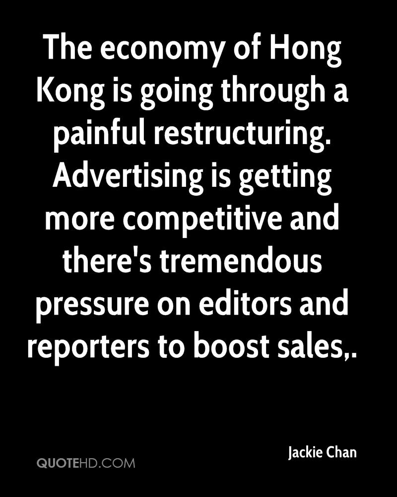 The economy of Hong Kong is going through a painful restructuring. Advertising is getting more competitive and there's tremendous pressure on editors and reporters to boost sales.