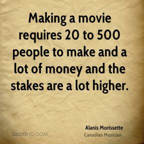 Making a movie requires 20 to 500 people to make and a lot of money and the stakes are a lot higher.
