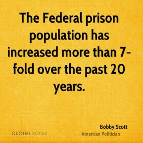 The Federal prison population has increased more than 7-fold over the past 20 years.