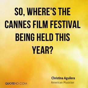 So, where's the Cannes Film Festival being held this year?