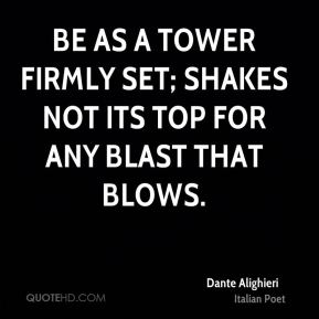 Be as a tower firmly set; Shakes not its top for any blast that blows.