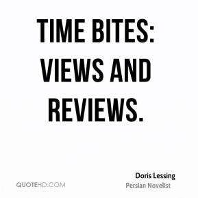 Time Bites: Views and Reviews.