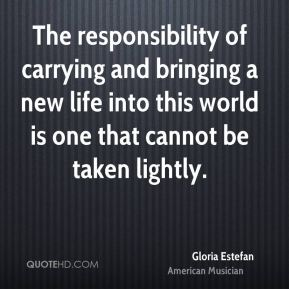 The responsibility of carrying and bringing a new life into this world is one that cannot be taken lightly.