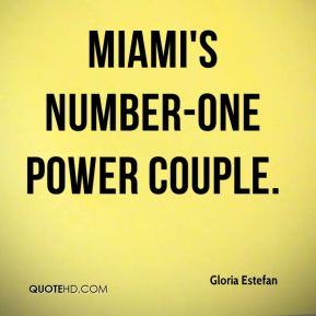 Miami's number-one power couple.