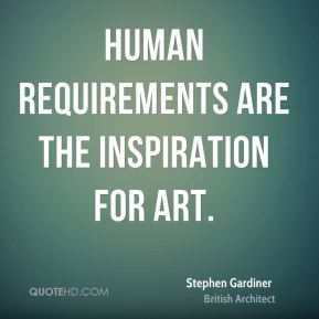Human requirements are the inspiration for art.