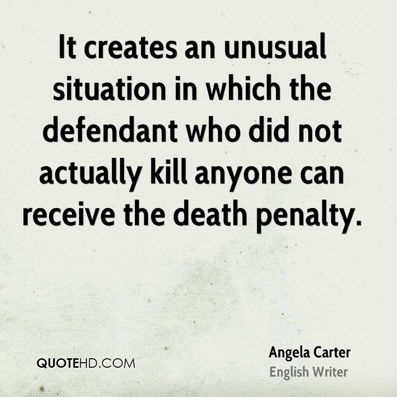 It creates an unusual situation in which the defendant who did not actually kill anyone can receive the death penalty.