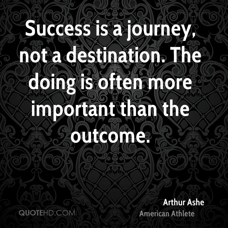 "essay on success is a journey not a destination The journey matters more than the destination ""success is a journey, not a destination needed this for an english essay as wellthank you."