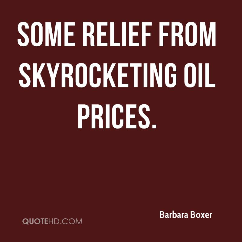 Oil Quote Endearing Barbara Boxer Quotes  Quotehd