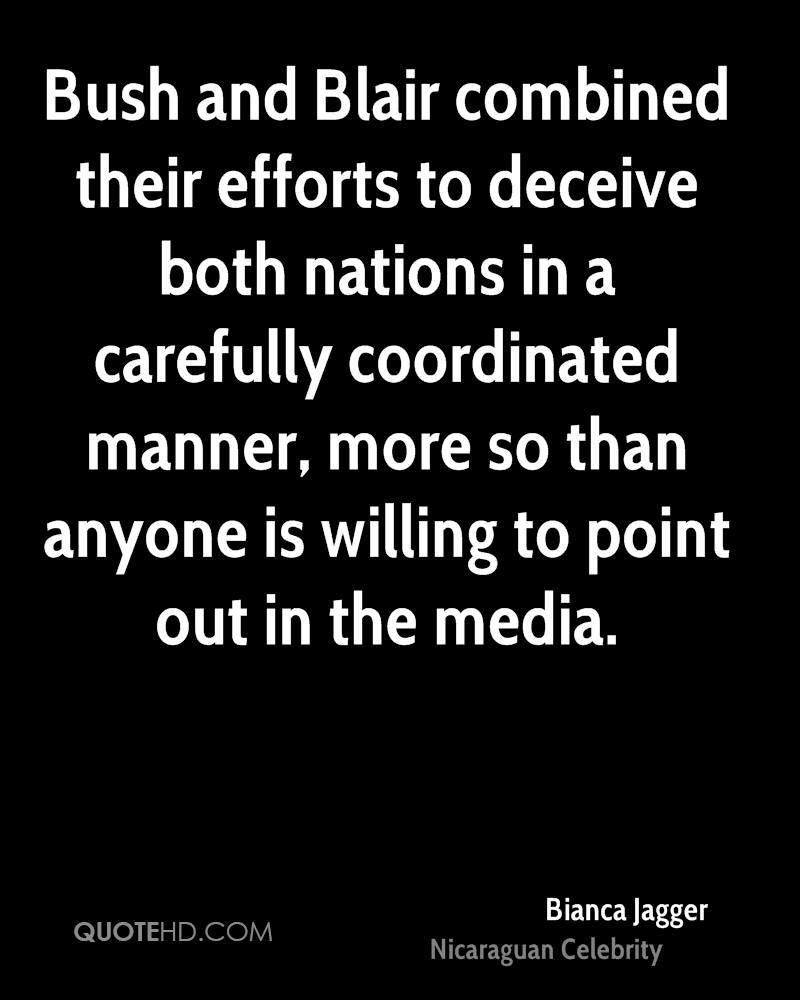 Bush and Blair combined their efforts to deceive both nations in a carefully coordinated manner, more so than anyone is willing to point out in the media.