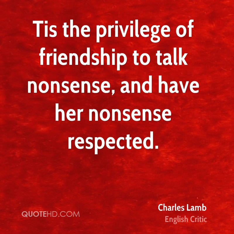 Charles Lamb friendship quote