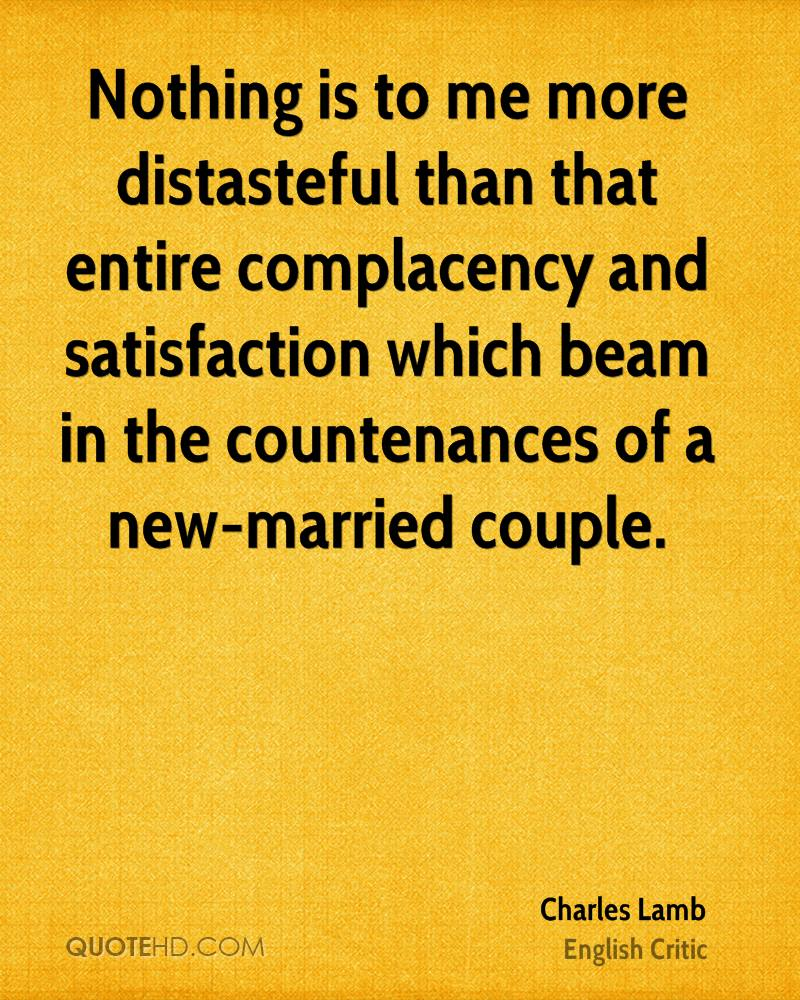 Complacency Quotes Charles Lamb Marriage Quotes  Quotehd