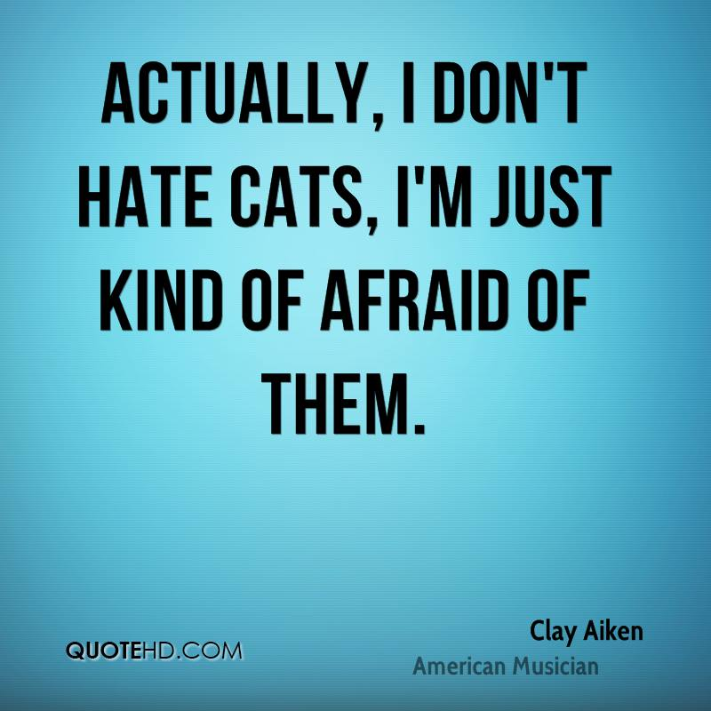 Actually, I don't hate cats, I'm just kind of afraid of them.