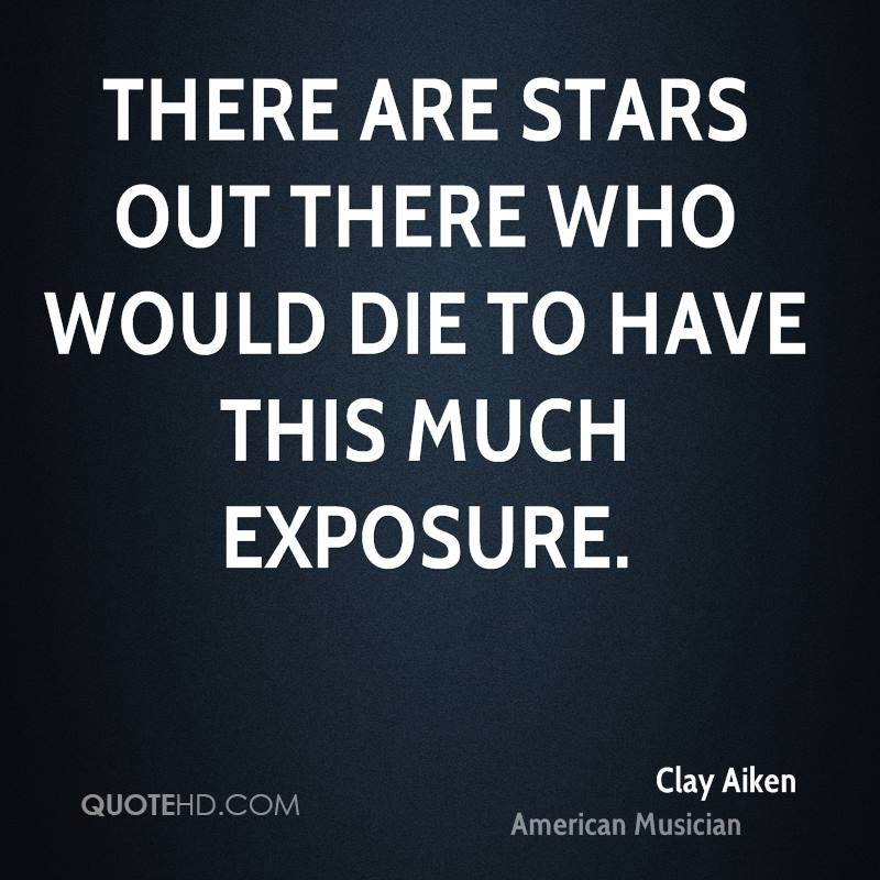 There are stars out there who would die to have this much exposure.