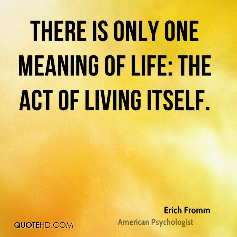 What Is The Meaning Of Life Quotes: Erich Fromm Quotes